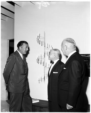 Prince Bertil of Sweden at May Company, 1958