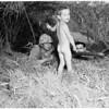 Boy locates Marines in Elysian Park, 1956
