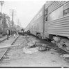 Auto vs train (Avenue 57 and Marmion Way), 1957