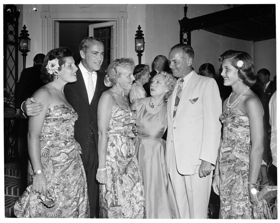 Party for Lodge at pickfair, 1953