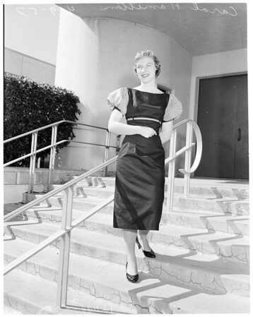 Maid of Cotton at Pepperdine College, 1957