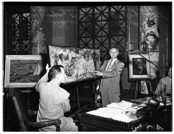 Art show before City Council, 1951