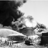 Hancock oil fire in Signal hall, 1958
