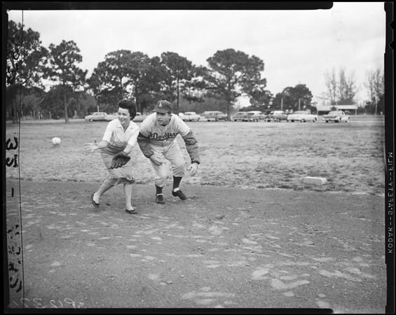Baseball -- Dodgers at Vero Beach, 1958