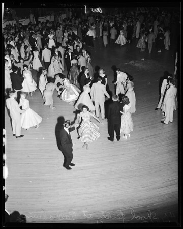 High school students party and dance (at Palladium), 1954