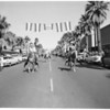 Leading rodeo parade in Palm Springs, 1956