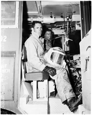 Hancock Oil Company fire in Signal Hill, 1958