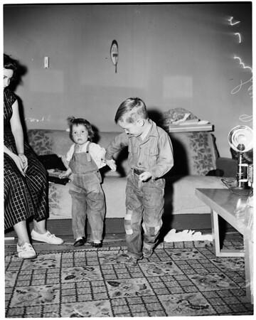 Boy fire hero (El Monte), 1953