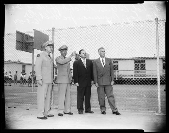 At Birmingham School -- San Fernando Valley (former veteran's hospital), 1954