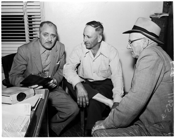 Shooting in Bell, 1954