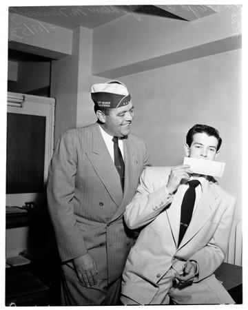 Diabled American Veterans (D.A.V.) contest winner, 1953