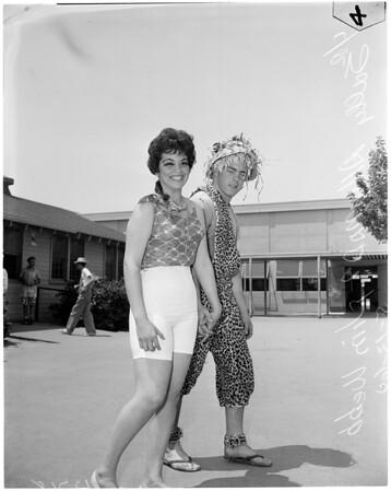 Hat and clash day at John Muir High School in Pasadena, 1960