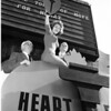 Heart fund opening at Coliseum (American heritage in antiques show), 1956