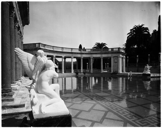 San Simeon California state park (black and white negatives), 1958