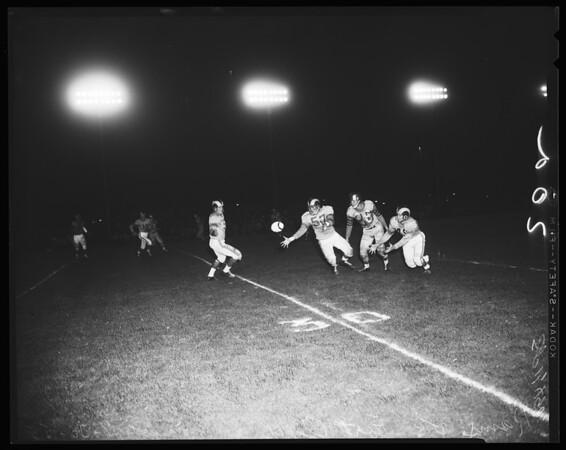 Rams versus Fort Ord Warriors, 1955
