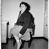 Woman shot in leg, 1954