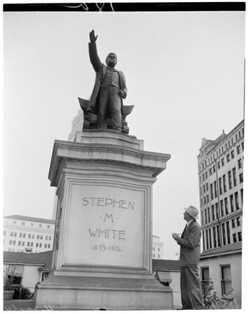 Statue of Stephen M. White (Civic Center), 1954