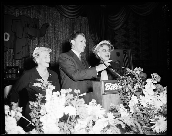 Southern California Republican Women's 100th Annual Luncheon, 1954