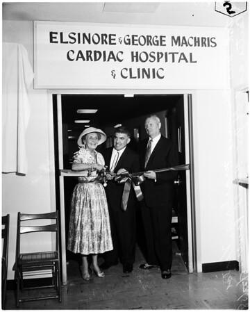 City of Hope ribbon cutting for new heart clinic, 1958