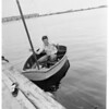 Smallest boat to cross over to Catalina, 1952