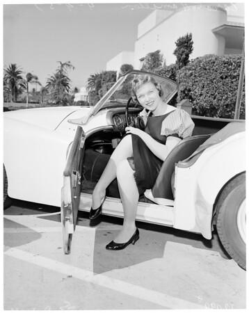 Maid of Cotton at Pepperdine College, 1957