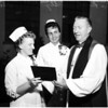 Nurse graduation at Bishop Johnson College of Nursing, 1958