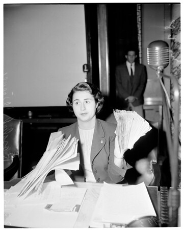 Kirby Hearing at City Council, 1953
