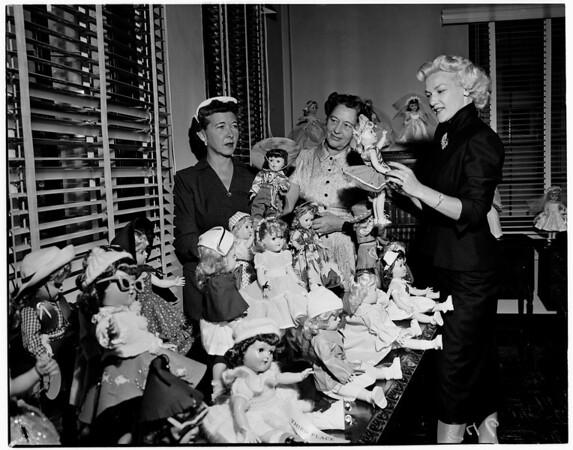 Children's Hospital Doll Exhibit, 1955