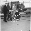 New pilot station at San Pedro main channel (Los Angeles Harbor) (ground breaking ceremonies), 1956
