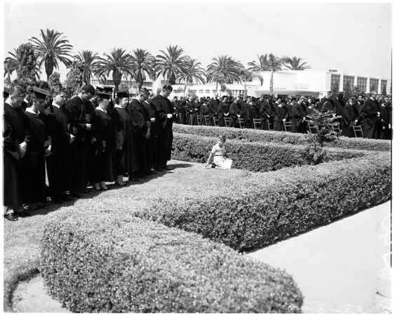 Pepperdine graduation, 1958