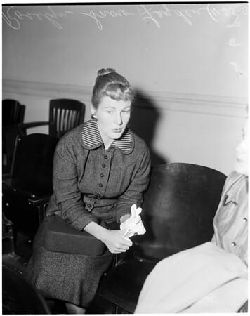 Divorce case,  1955