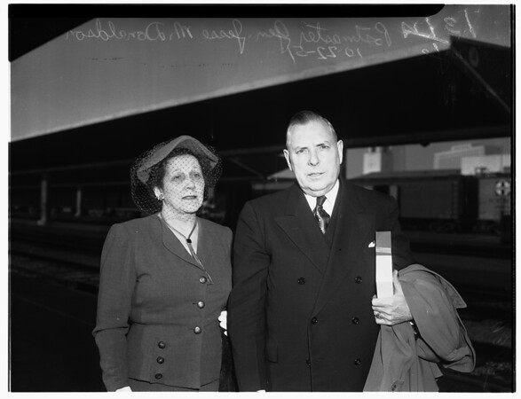 Postmaster General arrival (Union Station), 1951