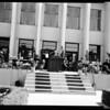 Peperdine College commencement, 1954