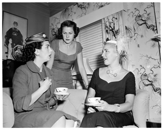 Society. Radio and TV women of Southern California membership tea, 1955