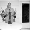 Fourth Annual W.W. Crenshaw Invitational Golf winning trophies,  1955