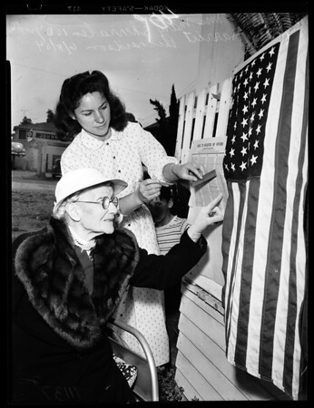 100 Year old voter, 1954