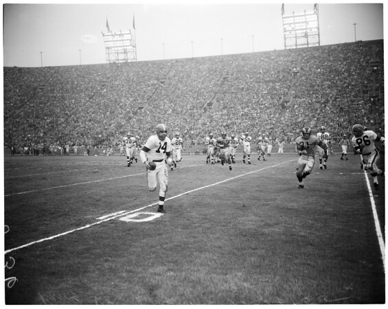 Rams versus Cleveland Browns, 1955