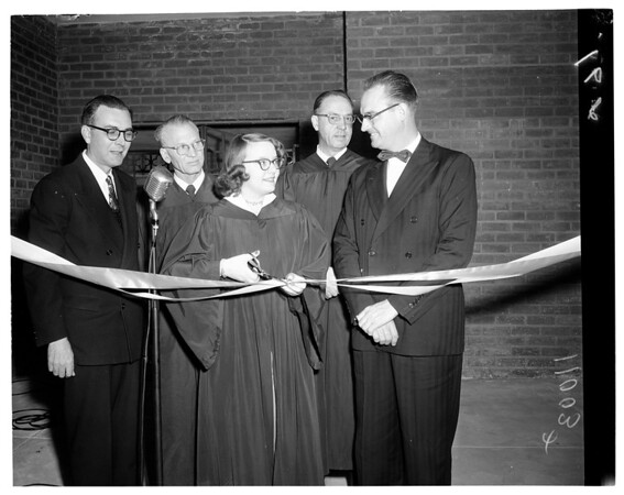 Parish hall dedication Trinity Lutheran, 1954
