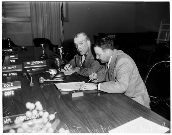 Board of Education hearing, 1954