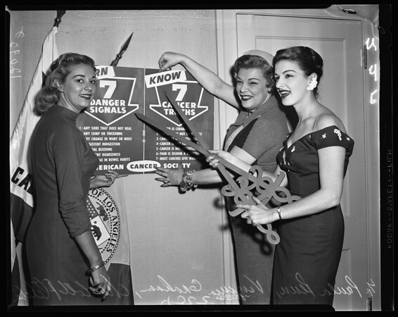Cancer Society kick-off luncheon, 1957