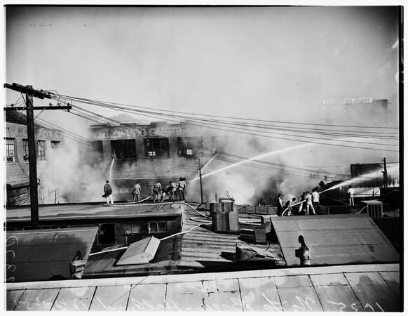 Fire at 1035 North La Brea, Hollywood, 1951