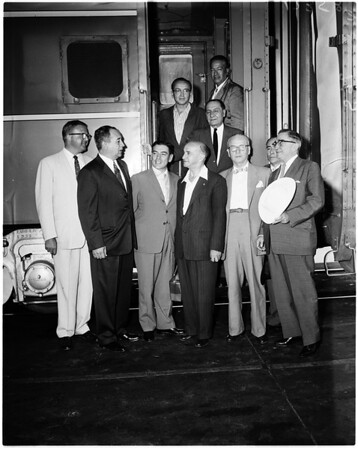 Peruvian delegation at Union Station, 1958