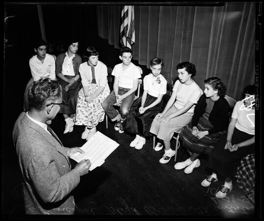 Schools: Thomas Starr King Junior High School (spelling bee), 1954