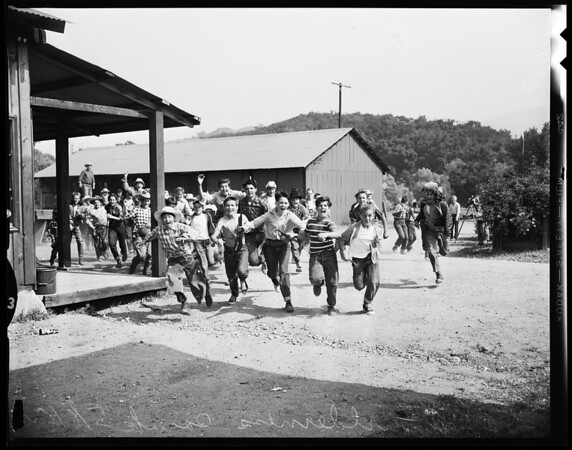 Scout wilderness camp at Agoura, 1954