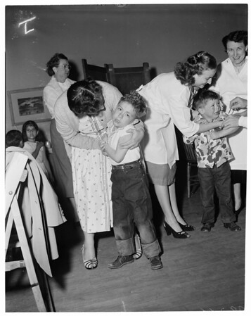 School vaccination, Harbor City Elementary School, 1953
