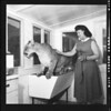 Mrs. Verna Koontz and mountain lion, 1956