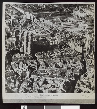 Bird's-eye view of  Munich, Germany, 1938