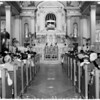 Easter High Mass at St. Vibiana's, 1957