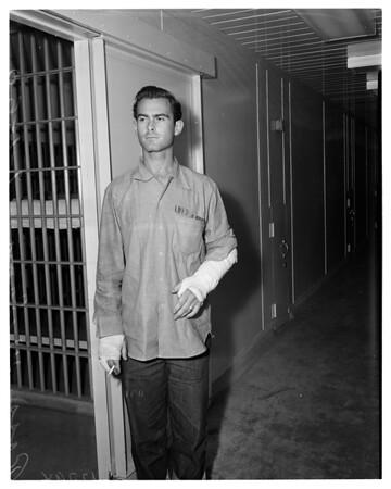 Long Beach police murderer (in Long Beach City Jail), 1960