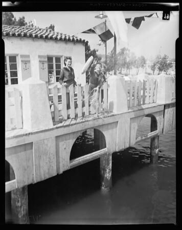 Girl Scouts Mariners at San Pedro, 1956